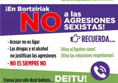 Bortzirietan eraso sexistarik EZ